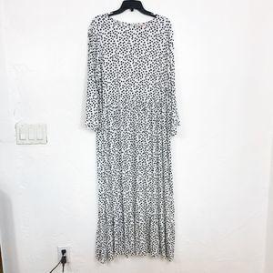 Philosophy NEW Black & White Polka Dot Maxi Dress